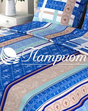 КПБ 1.5 спальный Аккорд, синий, набивная бязь 125 гм2 301-2